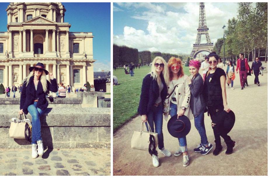 Kristina Ivanova su kolegėmis Paryžiuje