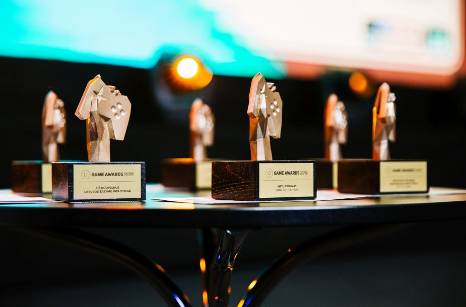 """""""LT Game Awards'19"""" apdovanojimų statulėlės"""