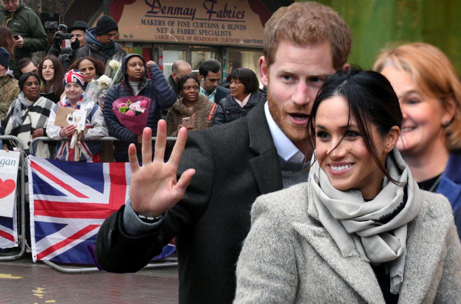 Princo Harry ir Meghan Markle vizitas radijo stotyje