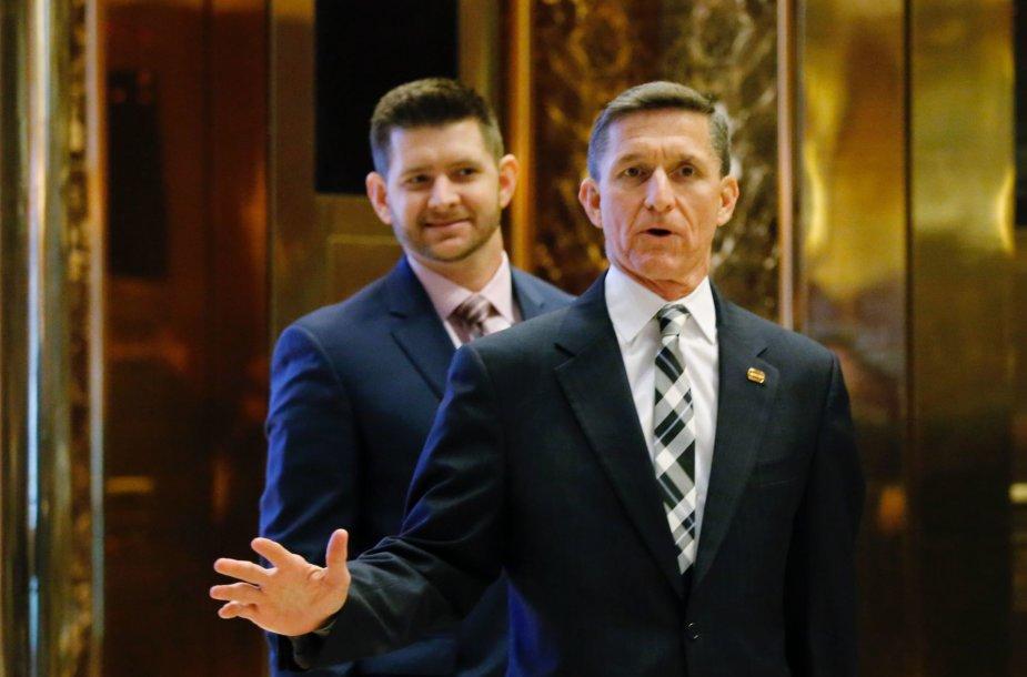 "Michaelas Flynnas su sūnumi ""Trump Tower"""