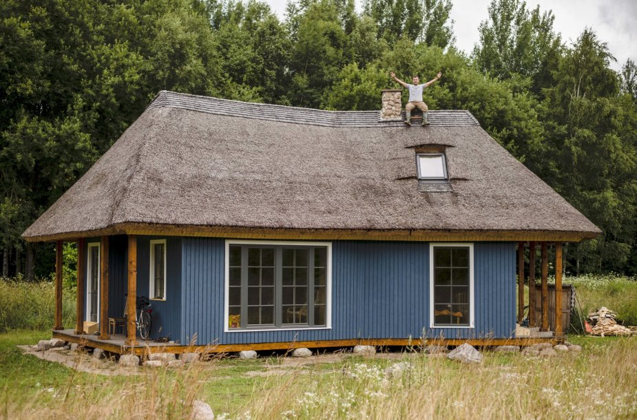 Ekologiško namo statybos.