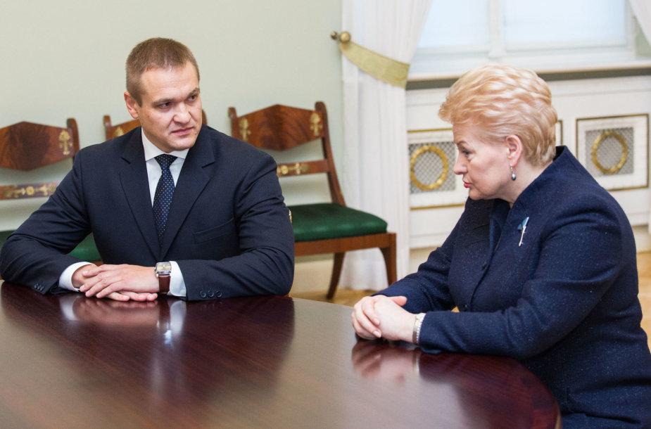 Eimutis Misiūnas ir Dalia Grybauskaitė