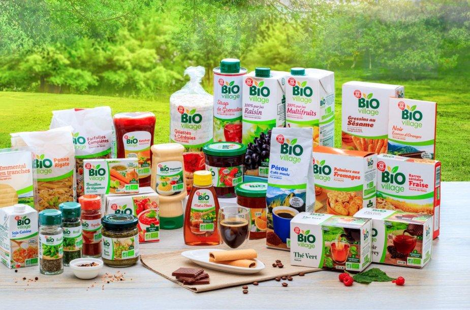 """Naujas privatus prekių ženklas IKI parduotuvių lentynose  """"Bio Village"""""""