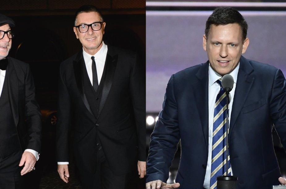 Domenico Dolce ir Stefano Gabbana, Peteris Thielas