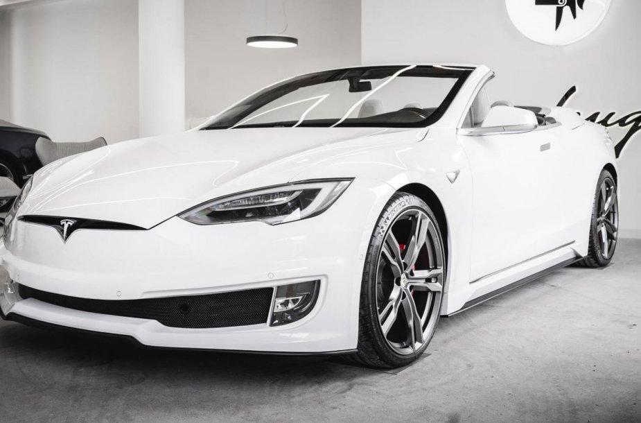 """""""Tesla Model S"""" kabrioletas"""
