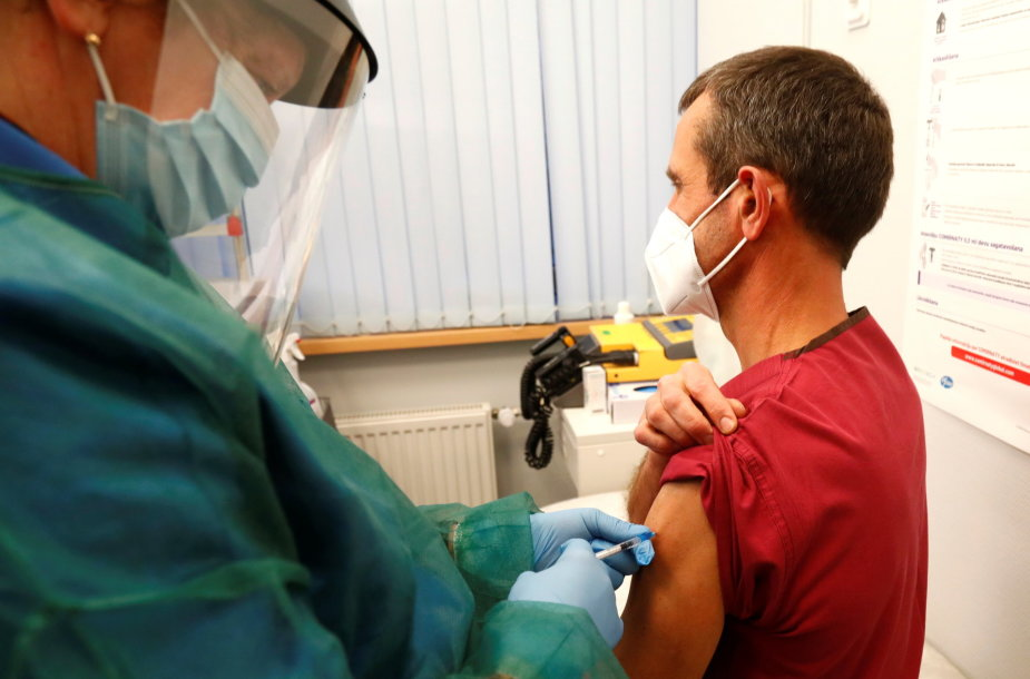 Latvijoje skiepijama nuo koronaviruso