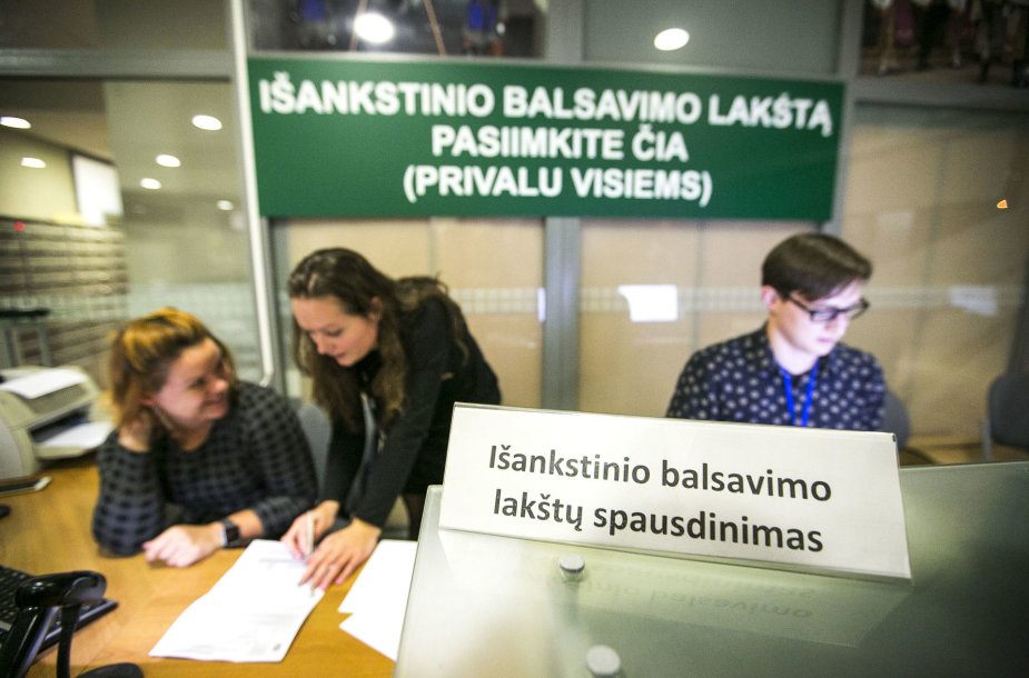 Išankstinis balsavimas Vilniaus miesto savivaldybėje ketvirtadienio vakarą