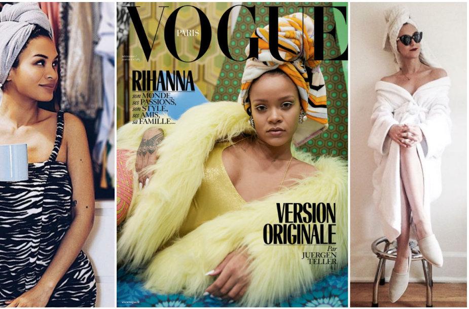 Rihanna pradėjo madą fotografuotis su rankšluosčiais