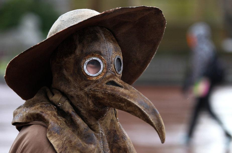 Viduramžių maro gydytojo kaukė