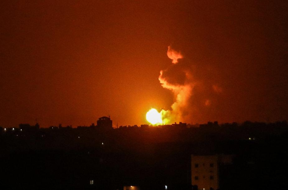 Izraelio smūgis Gazos ruože