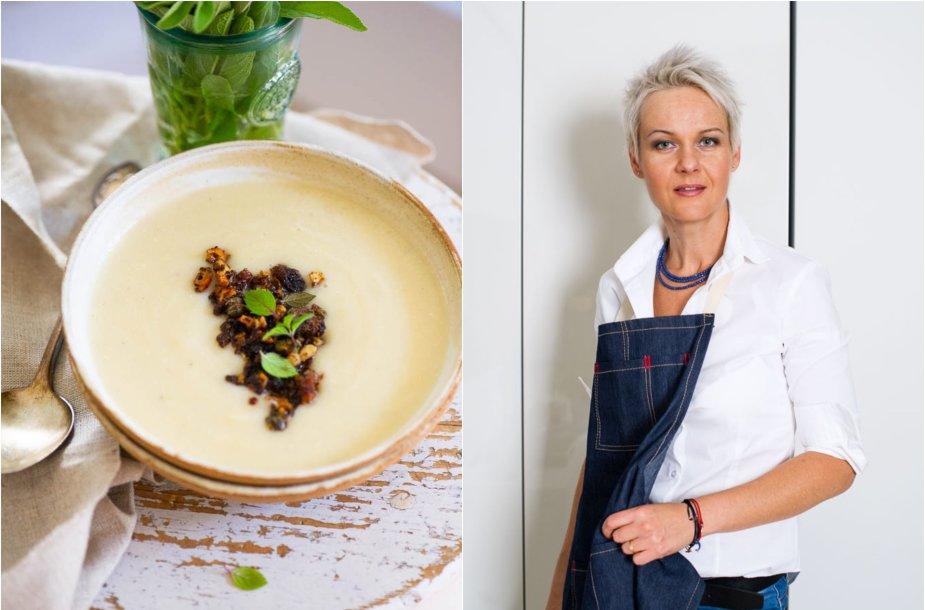 Nida Degutienė ir jos virta sriuba