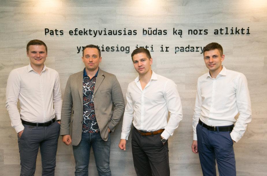 Iš kairės: Andrius Jonaitis, Aurelijus Jasevičius, Andrejus Naumčikas, Deividas Jezerskas