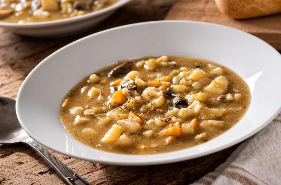 Grybų ir daržovių sriuba