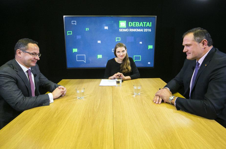 15min debatuose - Virgilijus Alekna ir Žygimantas Pavilionis