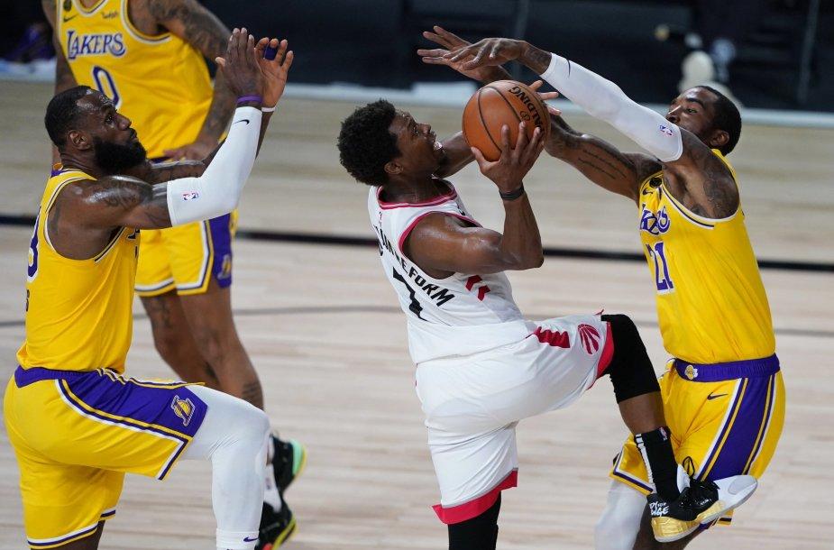 """Kyle'as Lowry pražudė """"Lakers"""""""