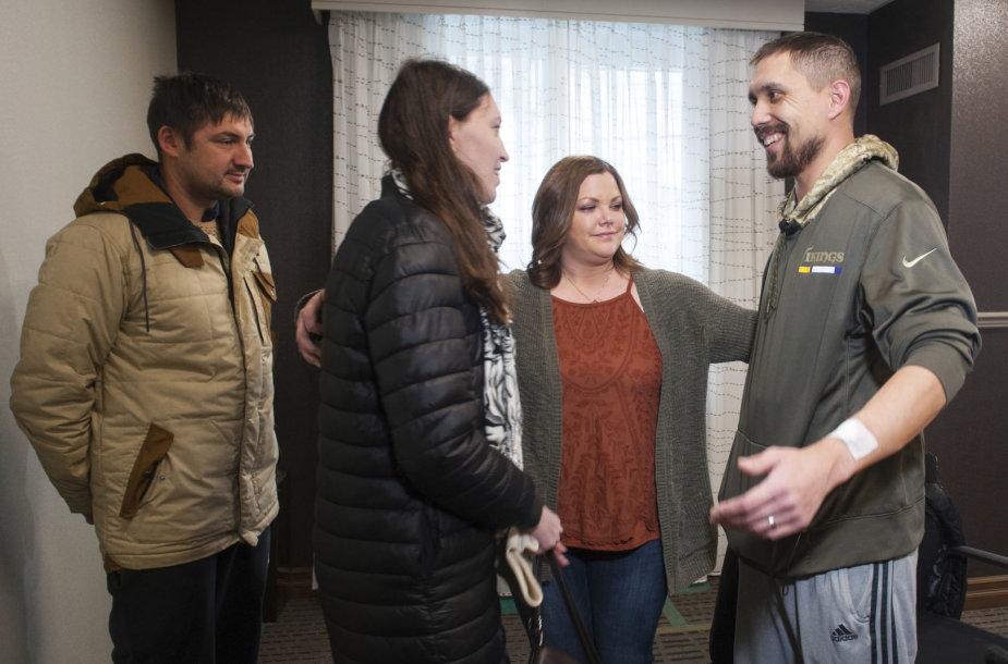 Olga Kemaeva  susitiko su Džonu Bondu – jos vyro inkstą gavusiu recipientu