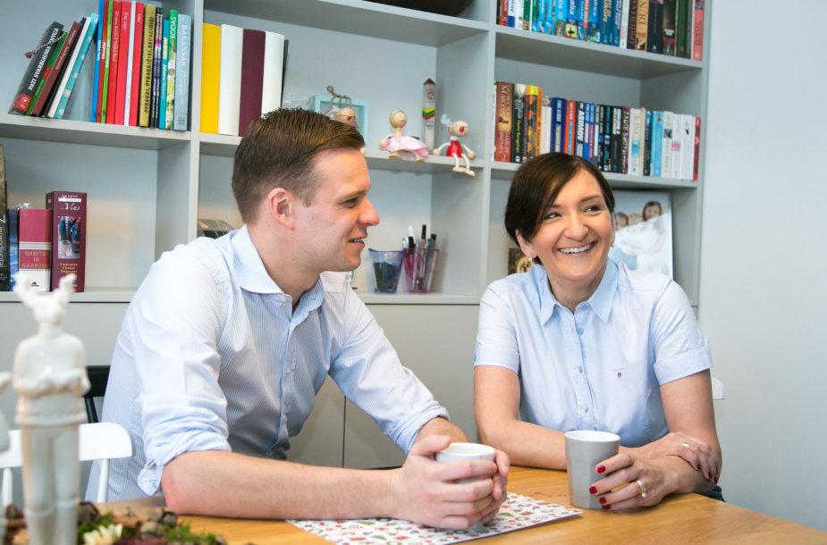Gabrielius Landsbergis su žmona Austėja