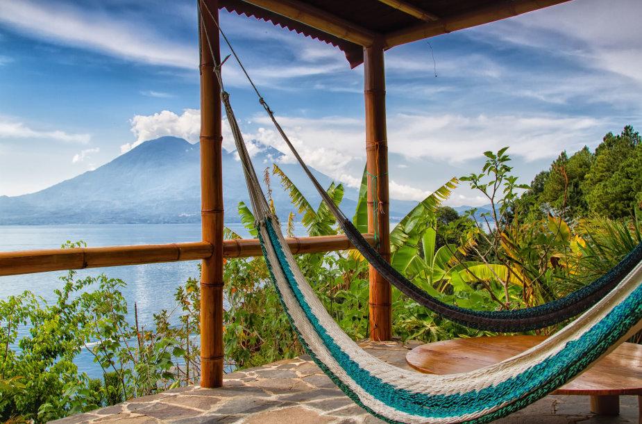 Atitlano ežeras ir San Pedro ugnikalnis, Gvatemala