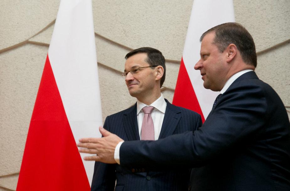 Sauliaus Skvernelio susitikimas su Mateusz Morawiecki