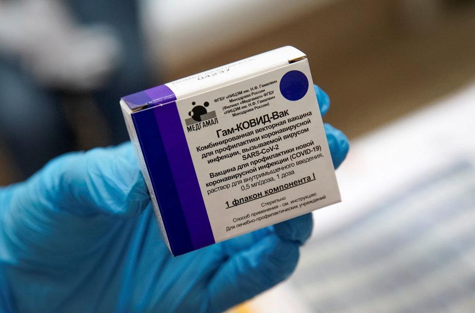 """Rusiška vakcina nuo koronaviruso """"Sputnik V"""""""