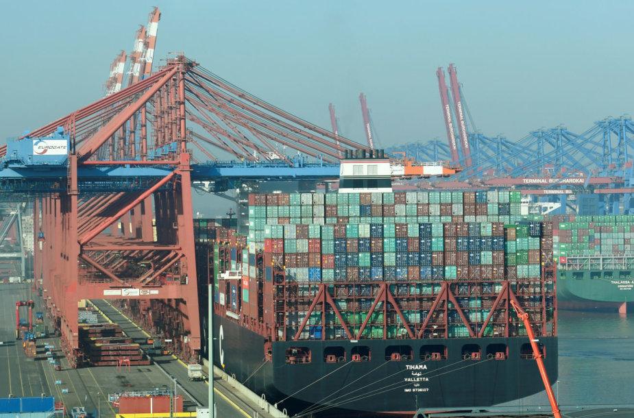 Konteinerinių laivų terminalas Hamburgo uoste