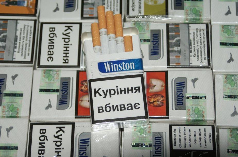 Šalčininkų kelio poste sulaikyta cigarečių kontrabanda