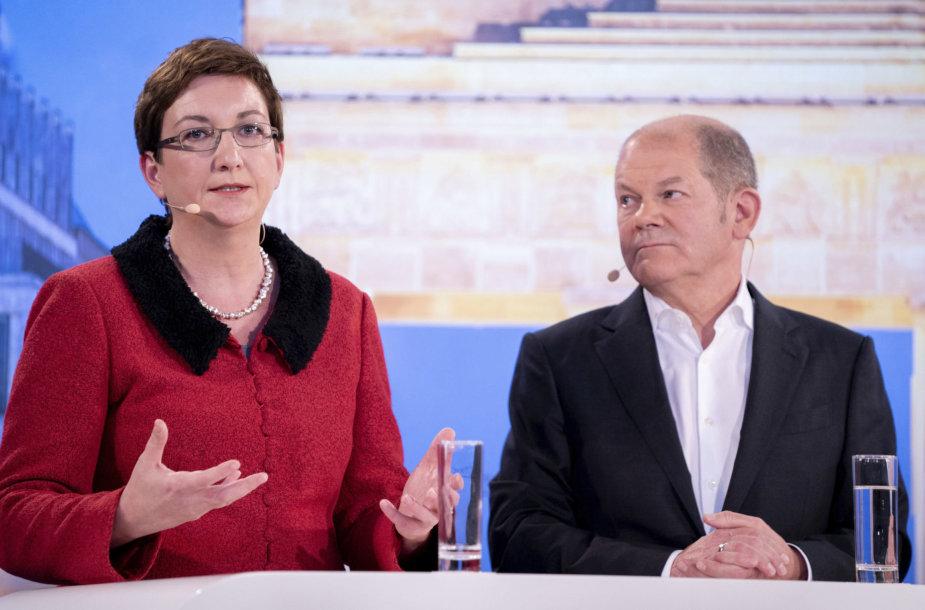 Klara Geywitz ir Olafas Scholzas