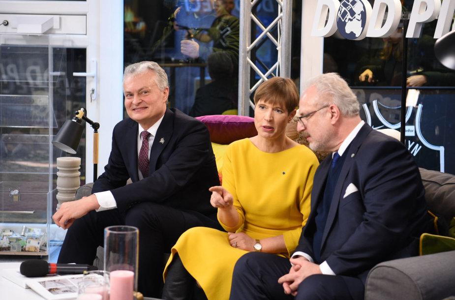 Gitanas Nnausėda, Kersti Kaljulaid, Egilas Levitas