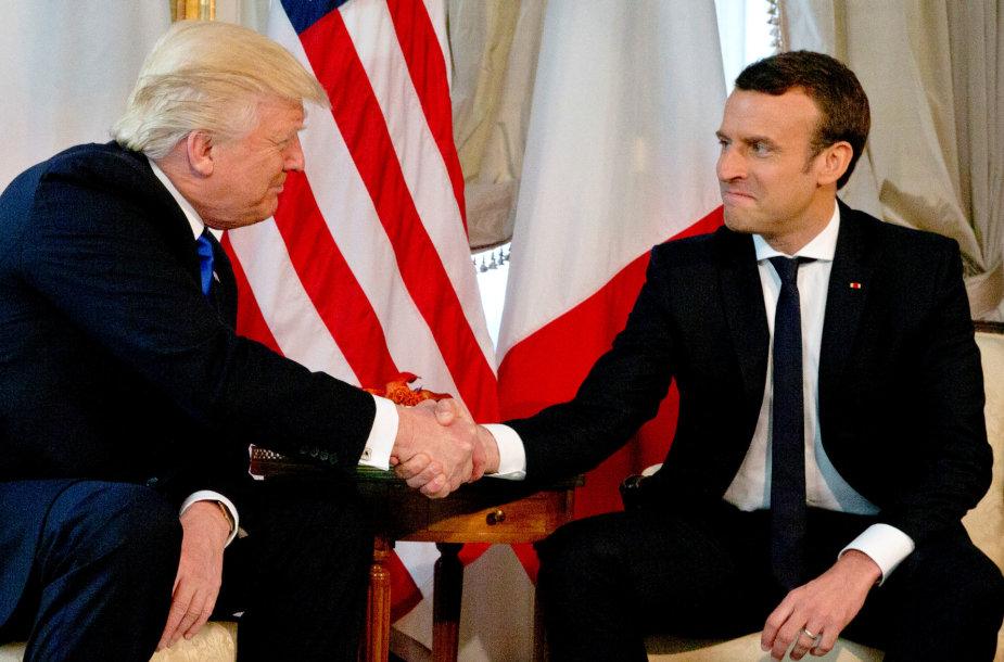 D.Trumpo ir E.Macrono susitikimas
