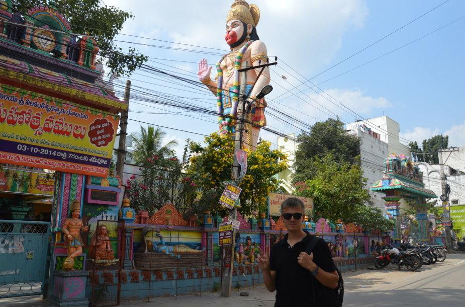 Mieste daugybė spalvotų šventyklų