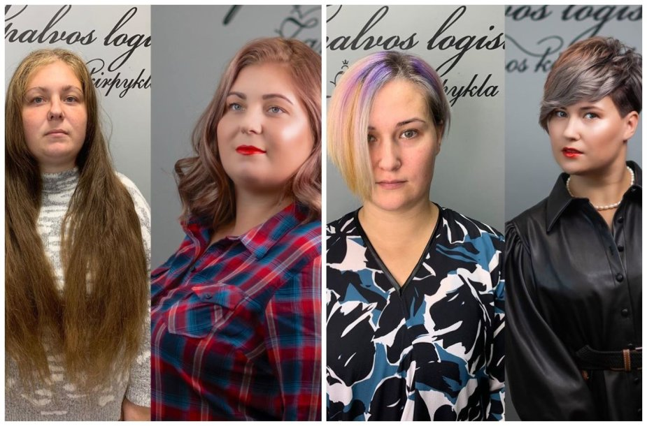 Kirpėjos-stilistės išgražintos moterys
