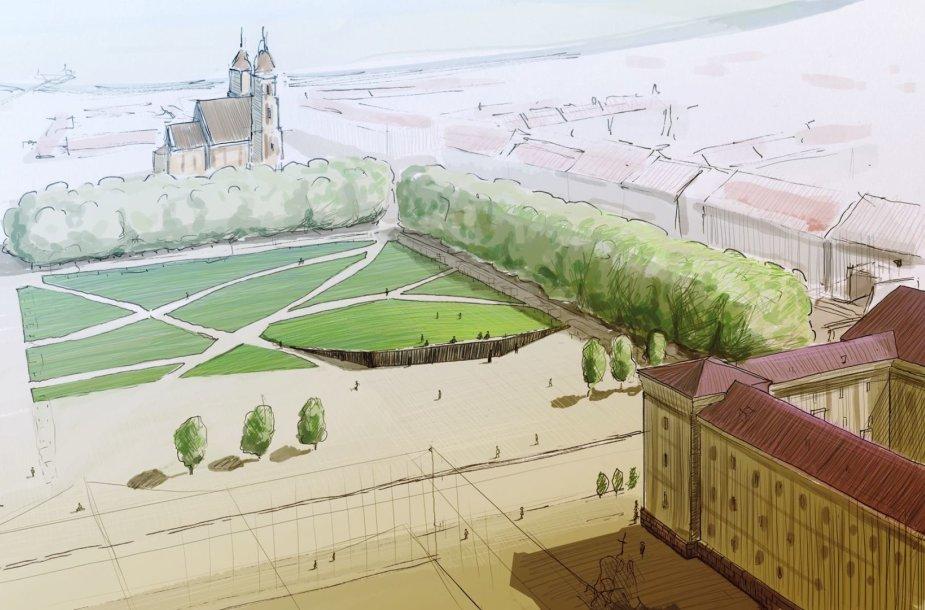 Andriaus Labašausko memorialo Lukiškių aikštei projektas