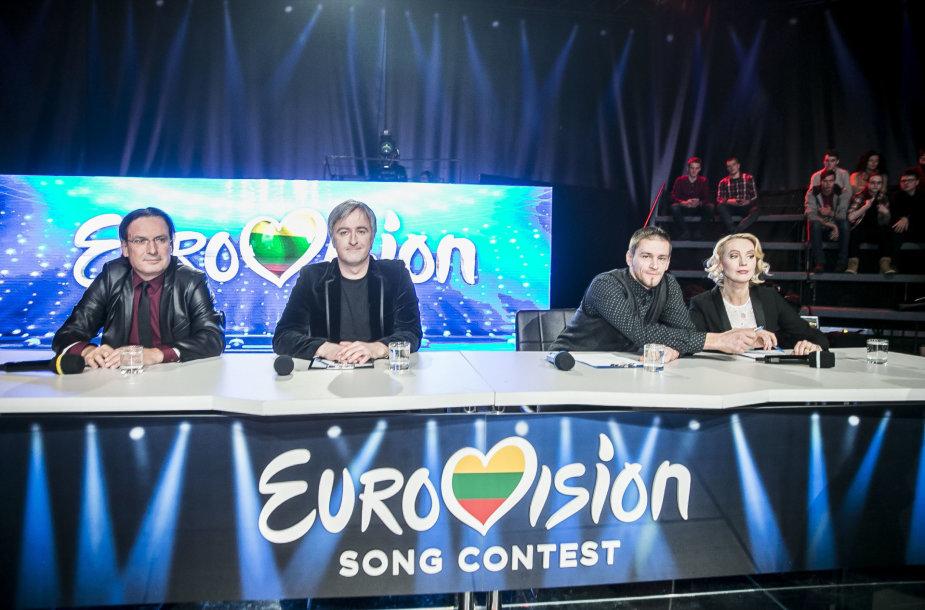 """Pirmosios """"Eurovizijos"""" atrankos laidos akimirka"""