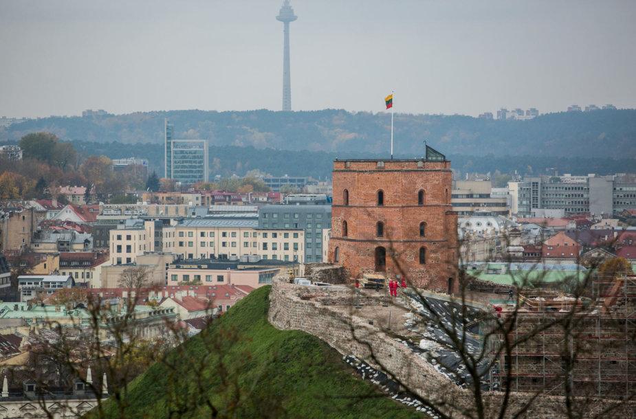 Vilniaus panorama nuo Trijų kryžių kalno