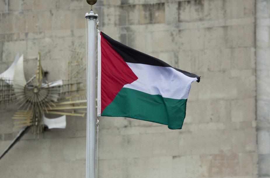 Palestinos vėliavos pakėlimo ceremonija