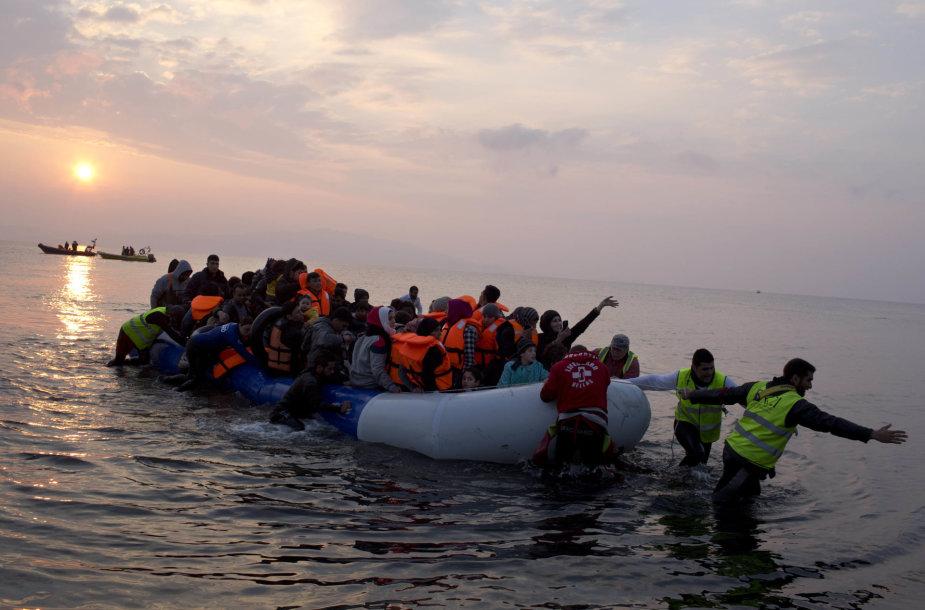 Migrantai Egėjo jūroje