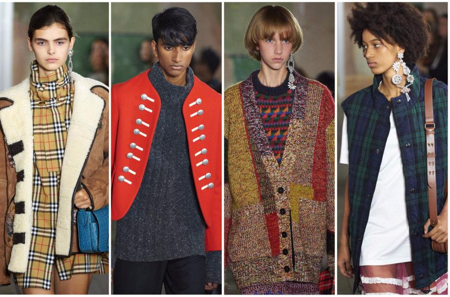 """""""Burberry"""" 2018 m. pavasario ir vasaros kolekcijos modeliai"""