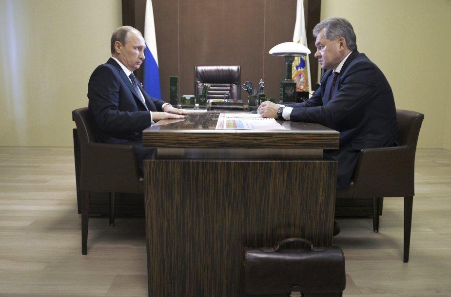 V.Putino ir S.Šoigu susitikimas
