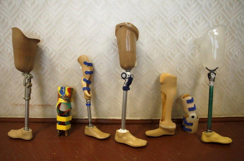 Donecko kojų protezų gaminimas ortopedijos centre