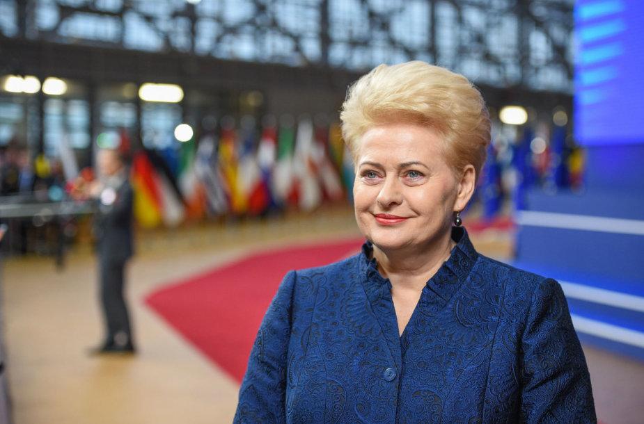 Dalia Grubauskaitė Europos Vadovų Taryboje Briuselyje