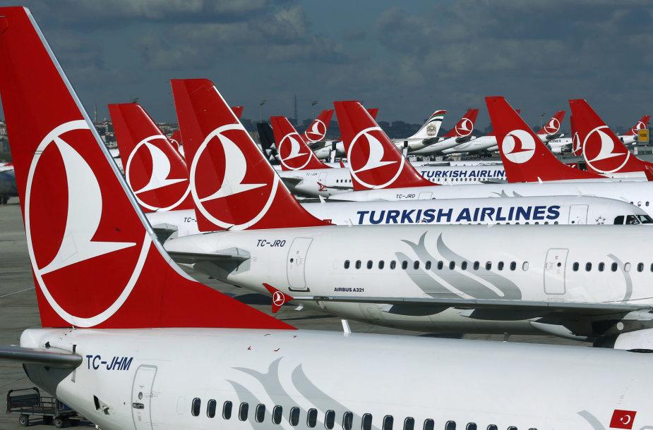 """""""Turkish Airlines"""" lėktuvai"""