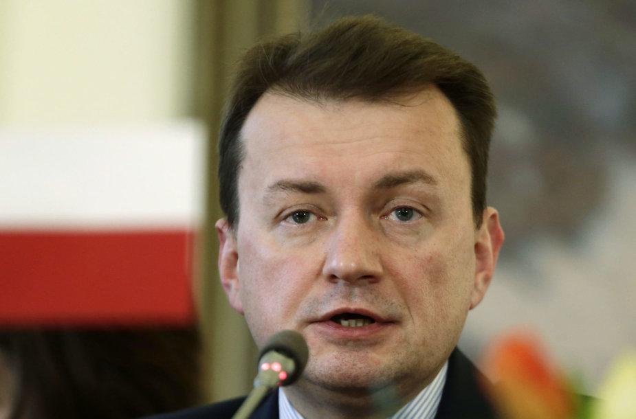 Lenkijos vidaus reikalų ministras Mariuszas Blaszczakas