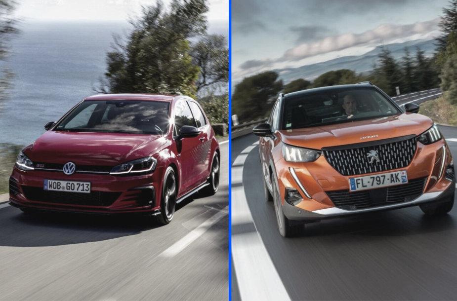 """""""VW Golf GTI TCR"""" ir """"Peugeot 2008"""""""