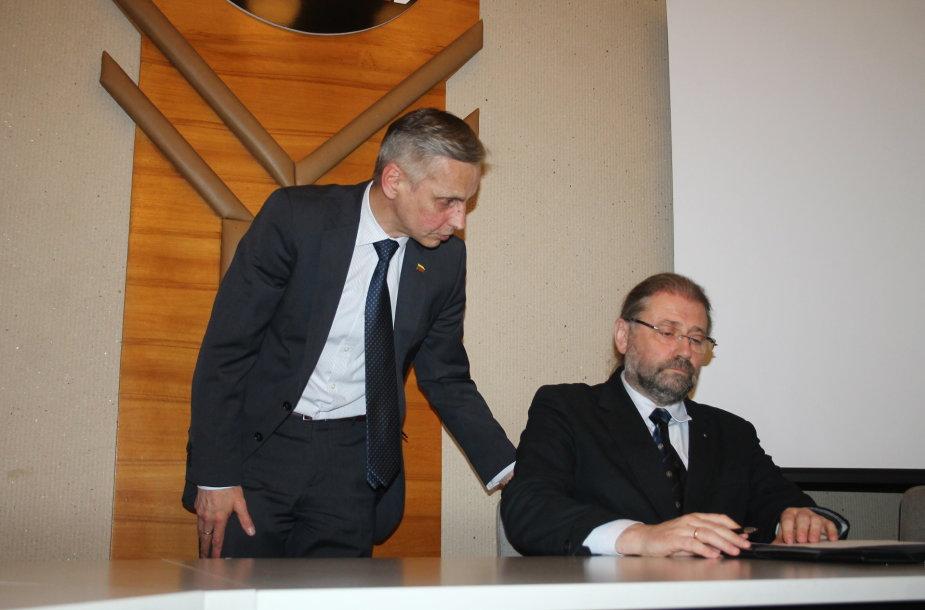 Koalicijos sutarties pasirašymas Panevėžyje