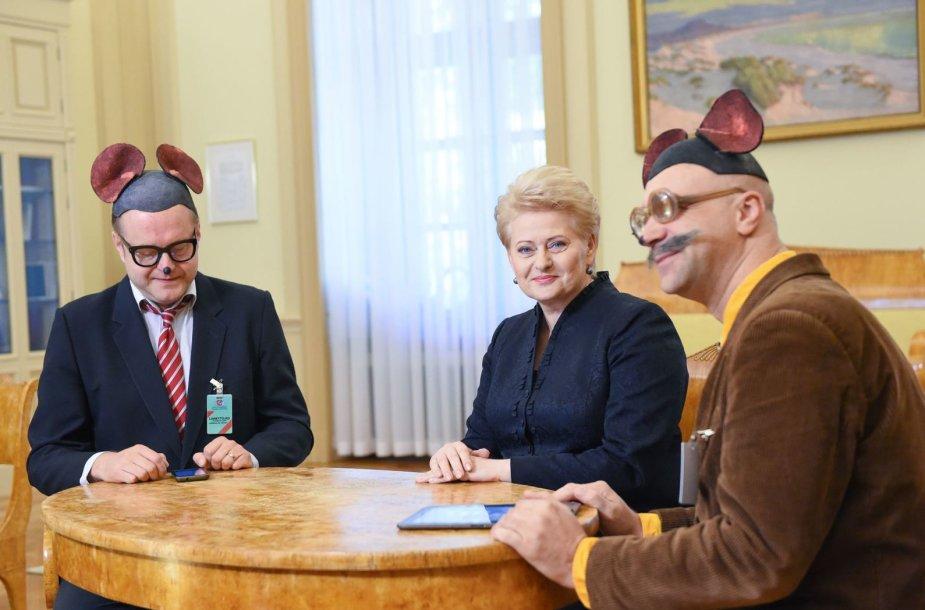Mauzeris ir Sūrskis su Dalia Grybauskaite