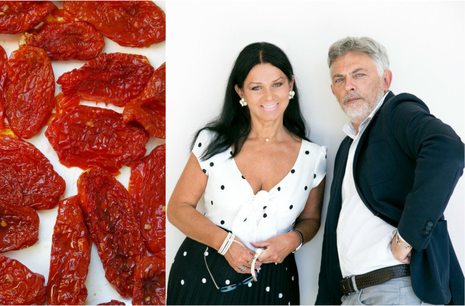Jurga ir Paulius Jurkevičiai pristato patiekalus su džiovintais pomidorais
