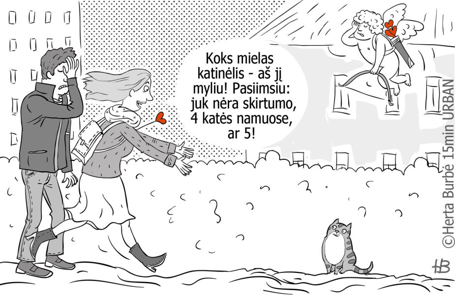 Hertos Burbės karikatūra