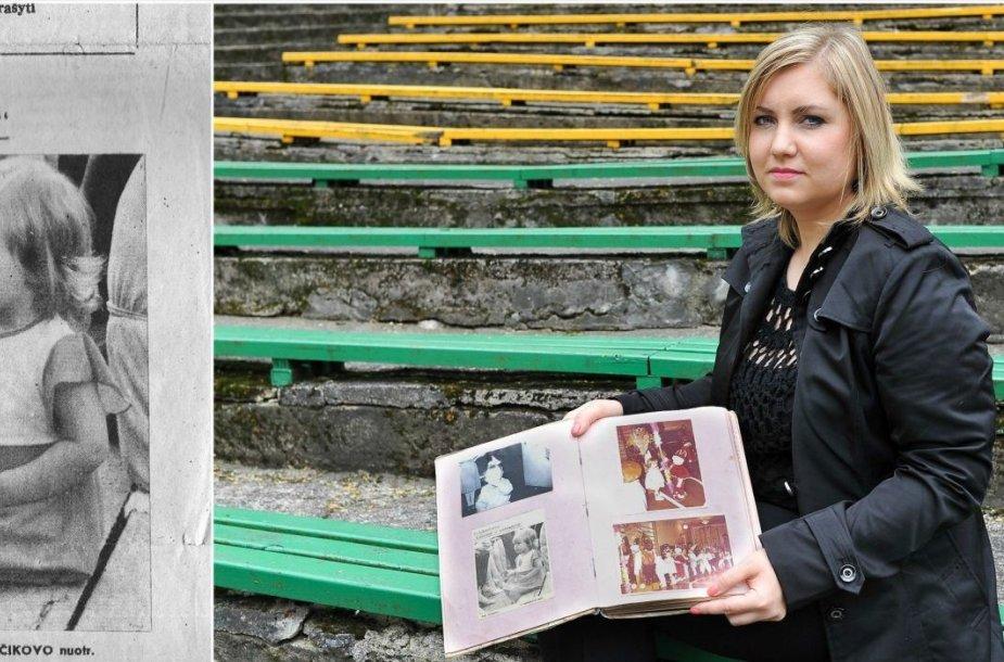Irina Bitvinskienė iki šiol savo nuotraukų albume saugo laikraščio iškarpą, kurioje ji nufotografuota dar visai mažutė