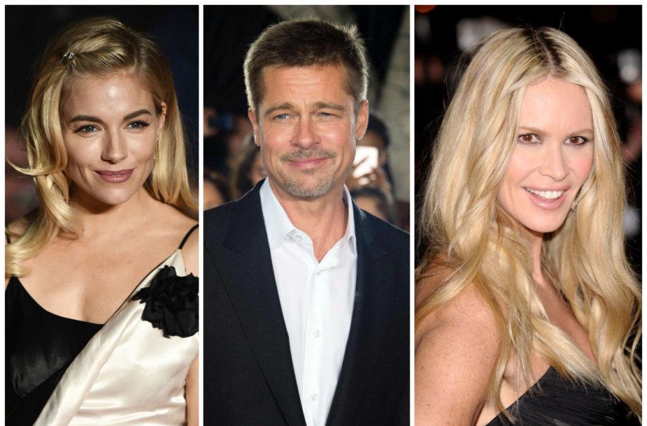Sienna Miller, Bradas Pittas ir Elle Macpherson