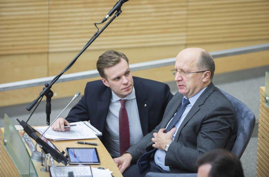 Gabrielius Landsbergis ir Andrius Kubilius
